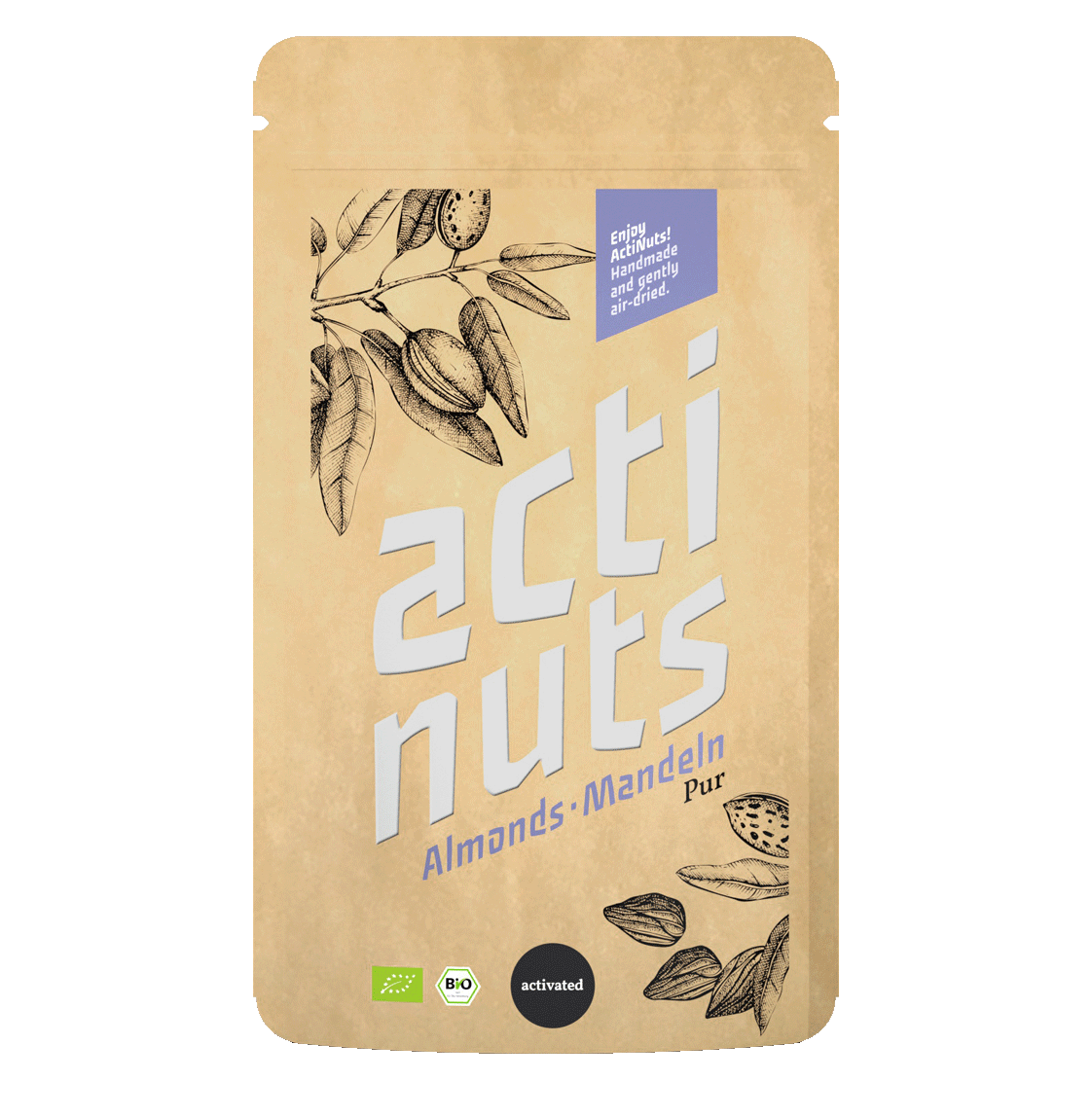 Activated almond kernels